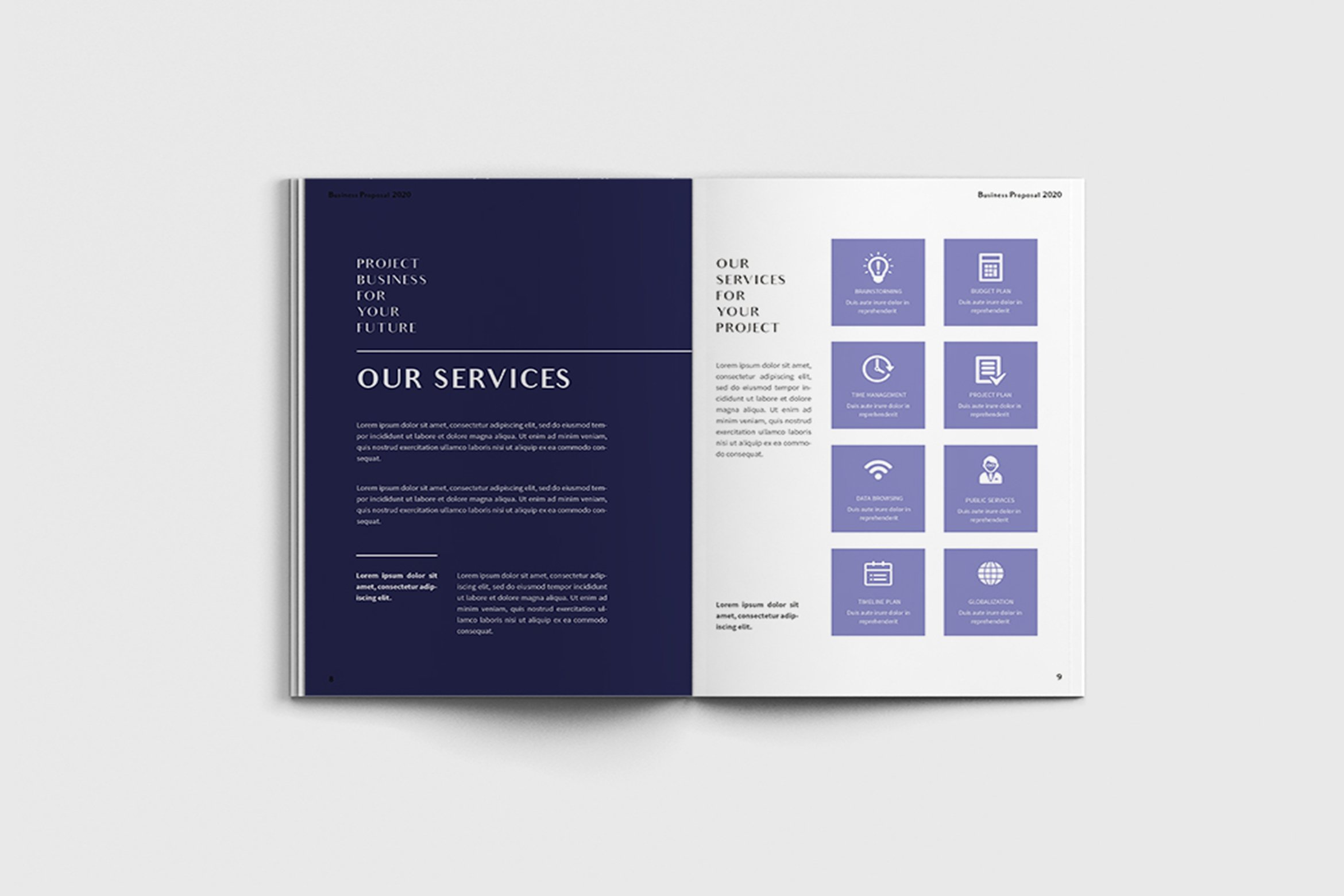 Exposina - A4 Business Brochure Template example image 4