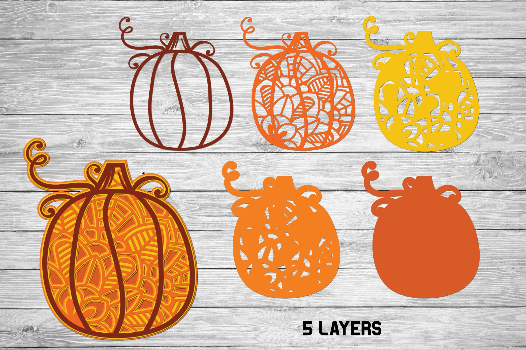 3D Layered Pumpkin SVG | Fall Multi Layer| Autumn Cut File example image 5