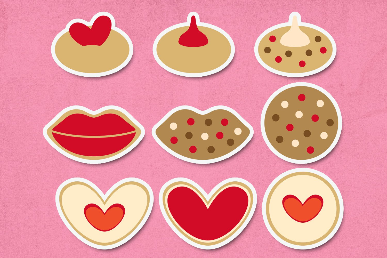 Valentine cookies illustrations clip art example image 3