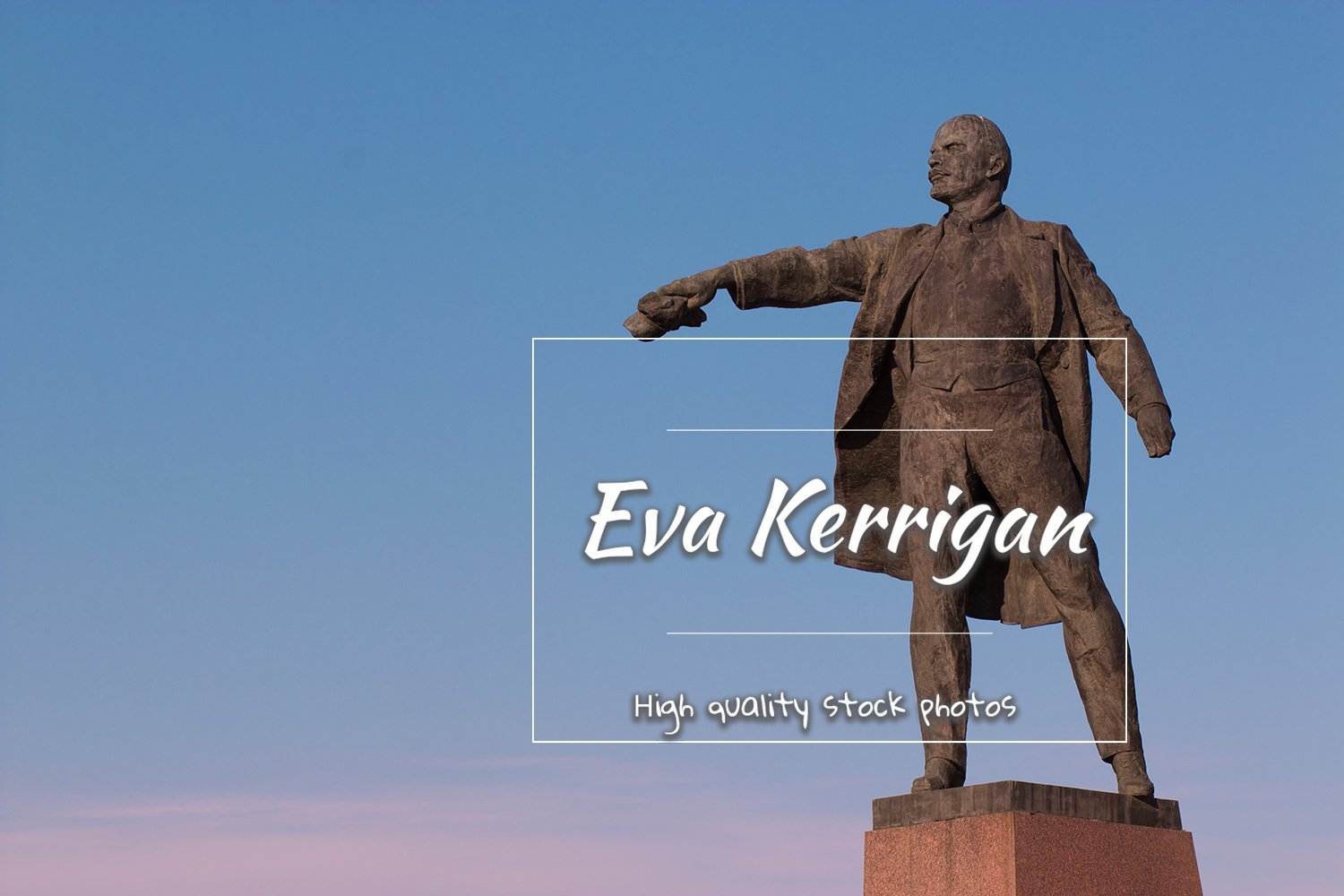 Sculpture of Vladimir Ilyich Lenin in the town square. example image 1