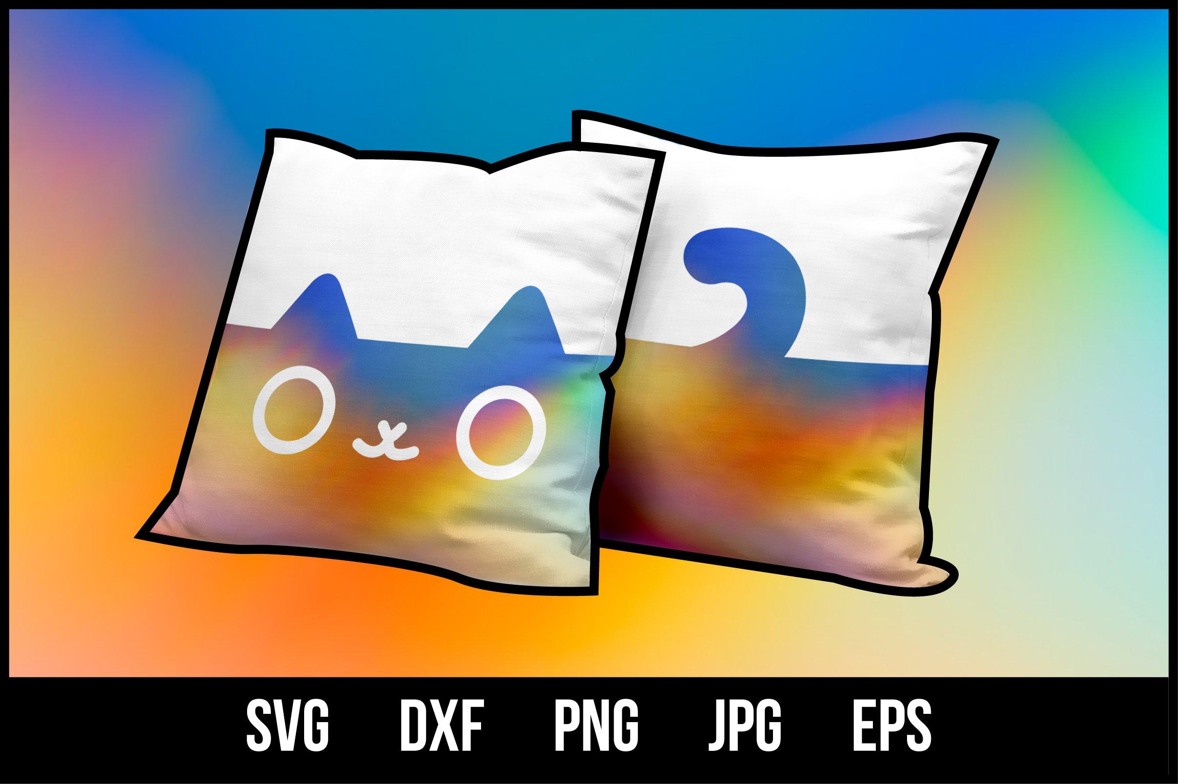 Download Cute Cat Silhouette 2 Sides Svg Cut Files 1057880 Cut Files Design Bundles