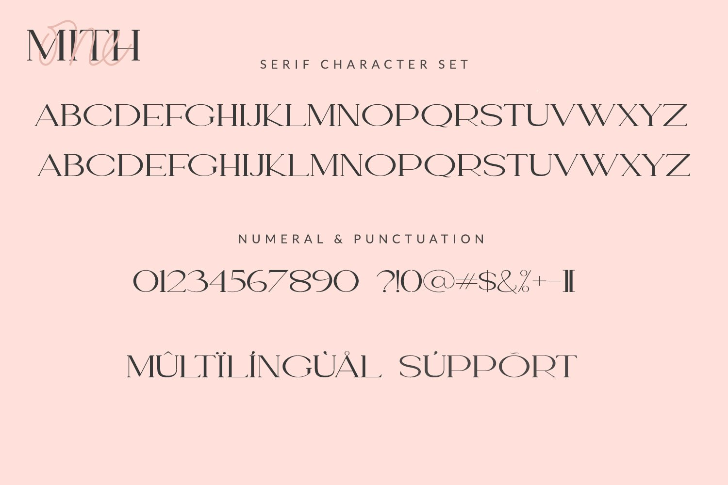 One Mith Font Duo example image 3