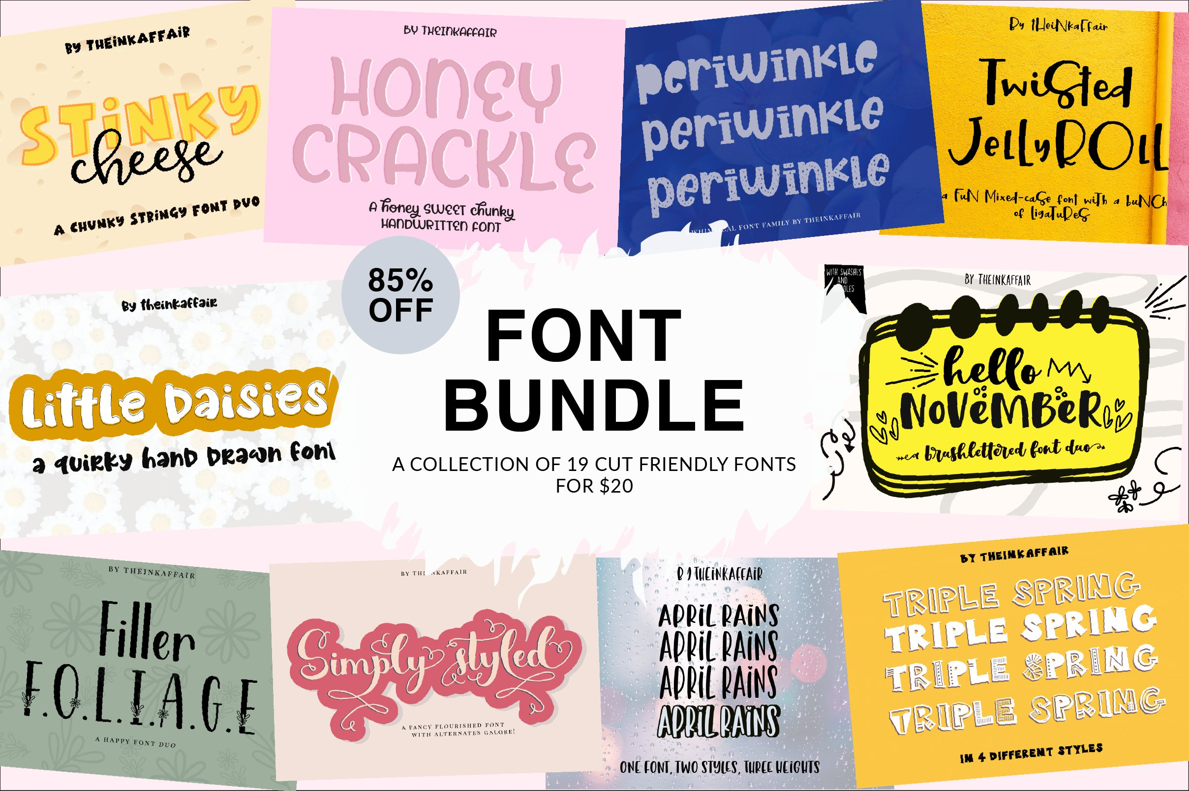 Handwritten Font Bundle for Crafters example image 1