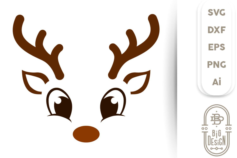 Christmas Svg Cute Reindeer Svg Boy Reindeer Face Svg 447135 Cut Files Design Bundles
