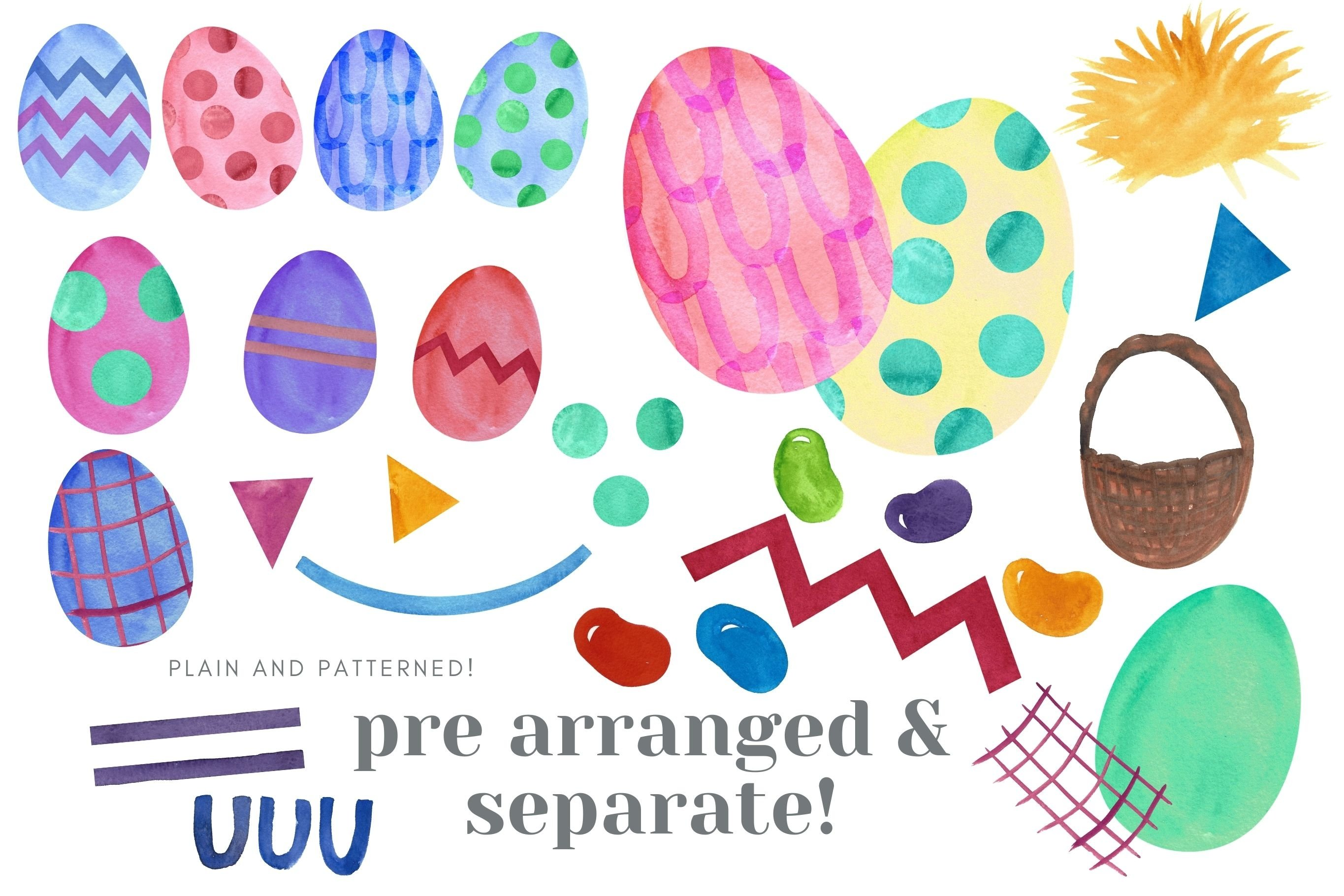 Easter Egg Watercolor Clip Art Sublimation Jelly Beans example image 2