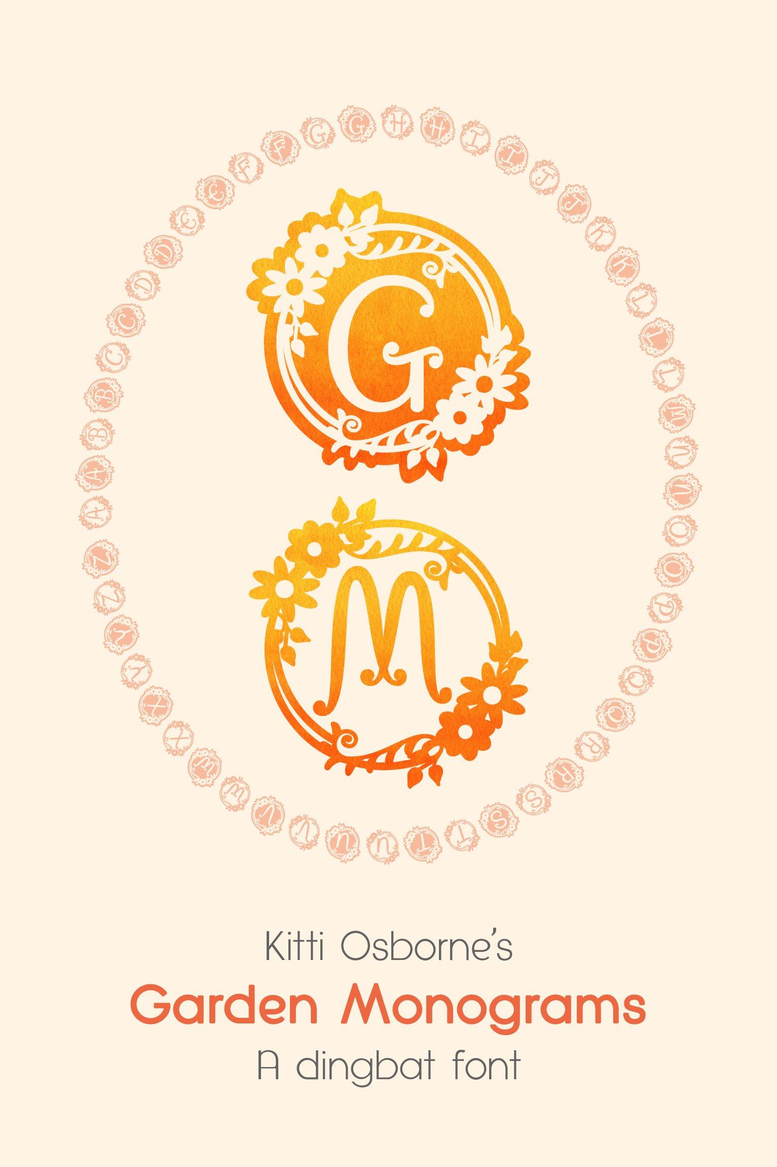 Garden Monograms - Font example image 12