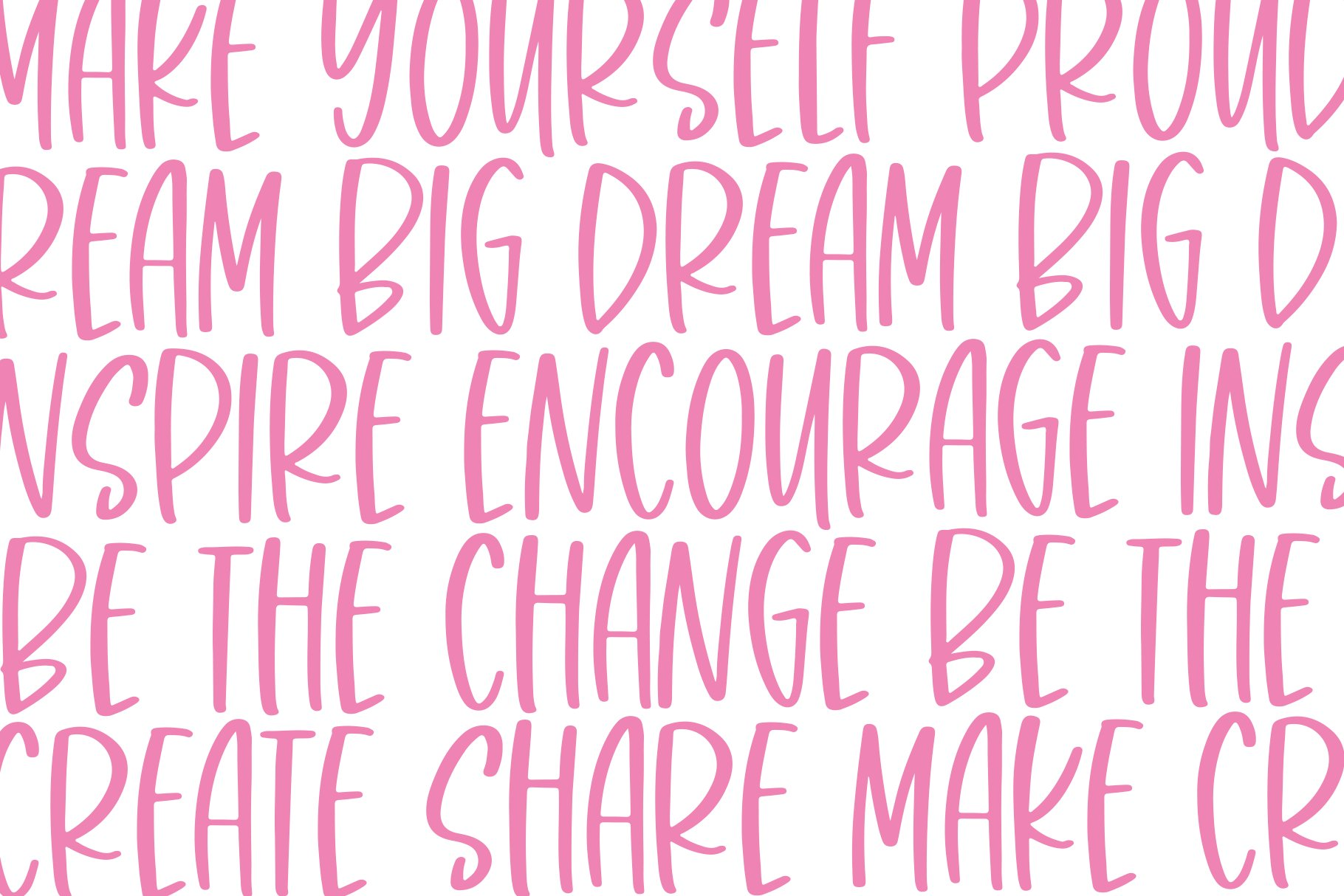 Pink Blush - A Fun Handwritten Font example image 5