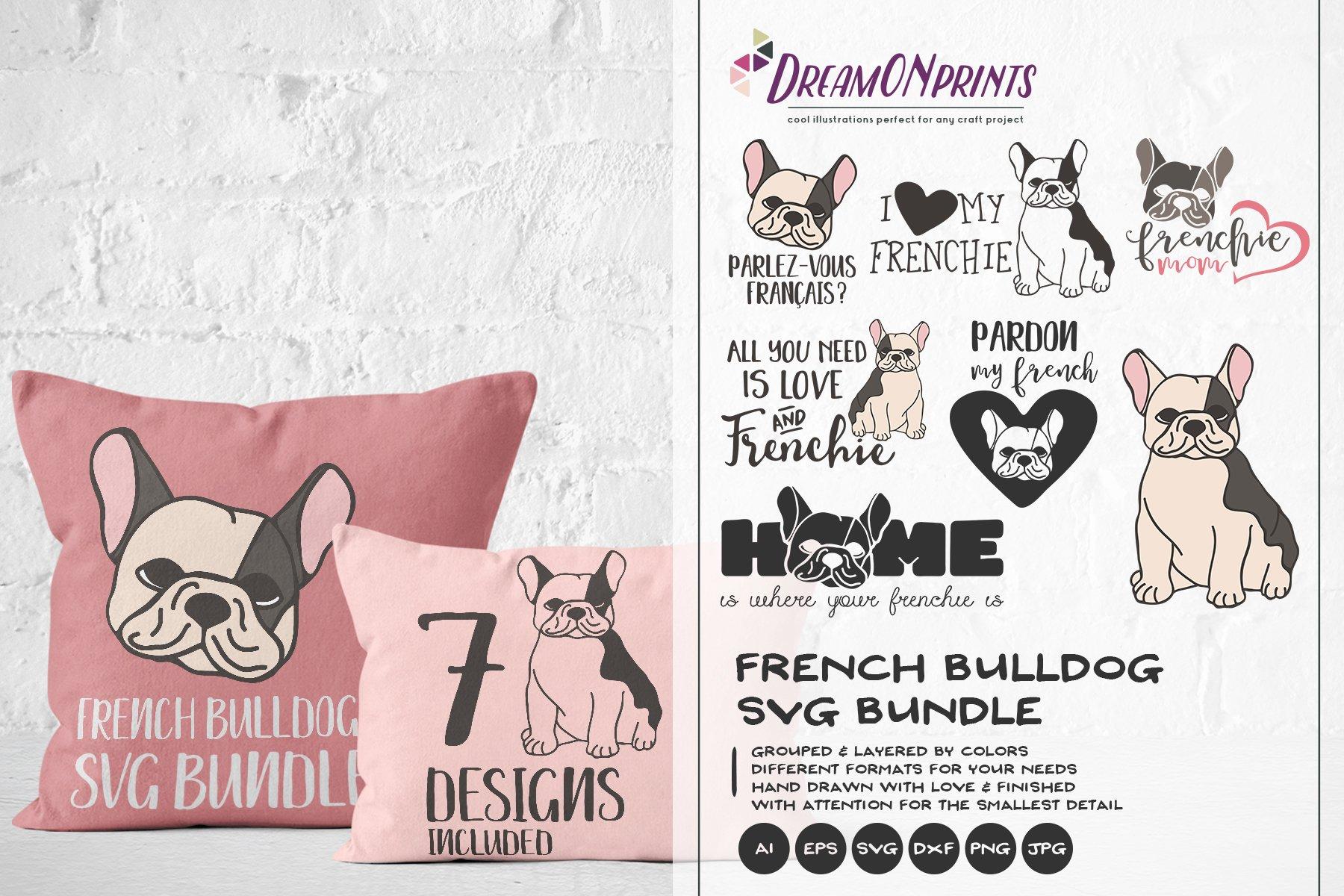 The Frenchie Svg Bundle Vector French Bulldog Bundle Svg 193165 Illustrations Design Bundles