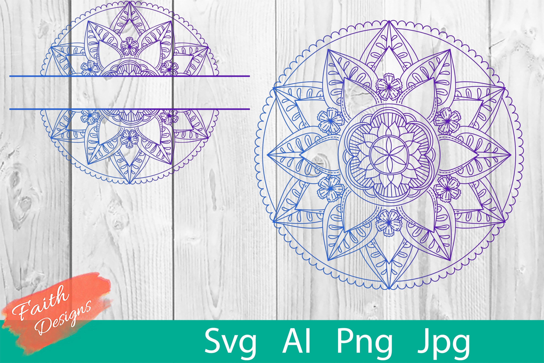 Mandala & Split Mandala No. 7 example image 1