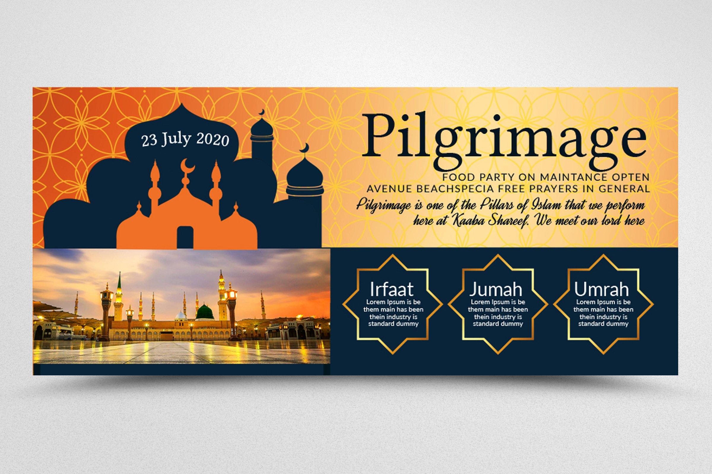 Hajj & Umrah Agency Facebook Banner example image 3