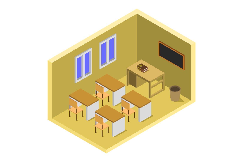 isometric school room example image 1