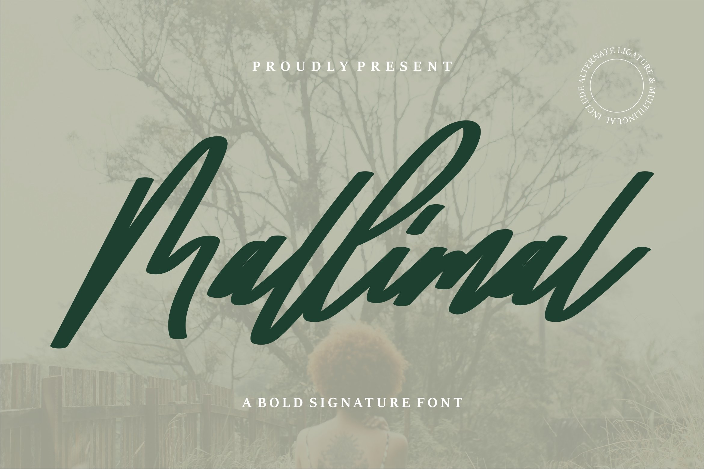 Mallimal - A Bold Signature Font example image 1