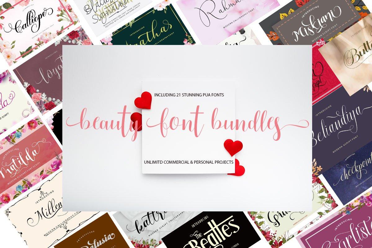 Beauty Font Bundles example image 2
