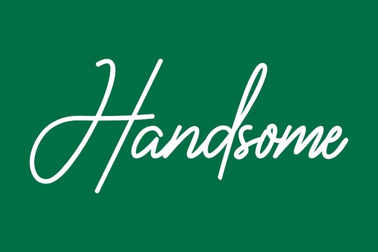 Vaniline signature - hairline font example image 4