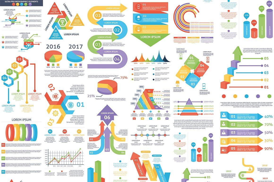 1000 Ultra Big Bundle Infographics Elements example image 17