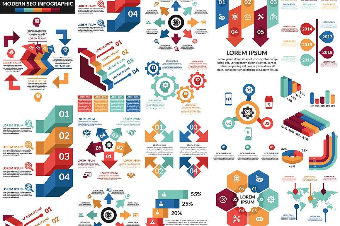 1000 Ultra Big Bundle Infographics Elements example image 8