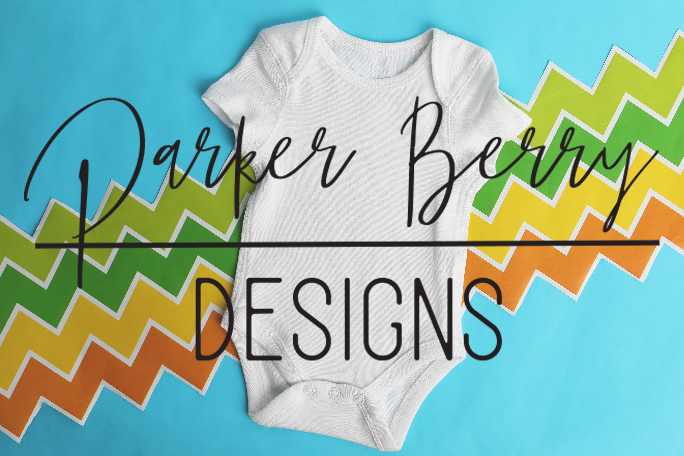 White Baby Bodysuit Mock up, Digital Download, designs example image 1