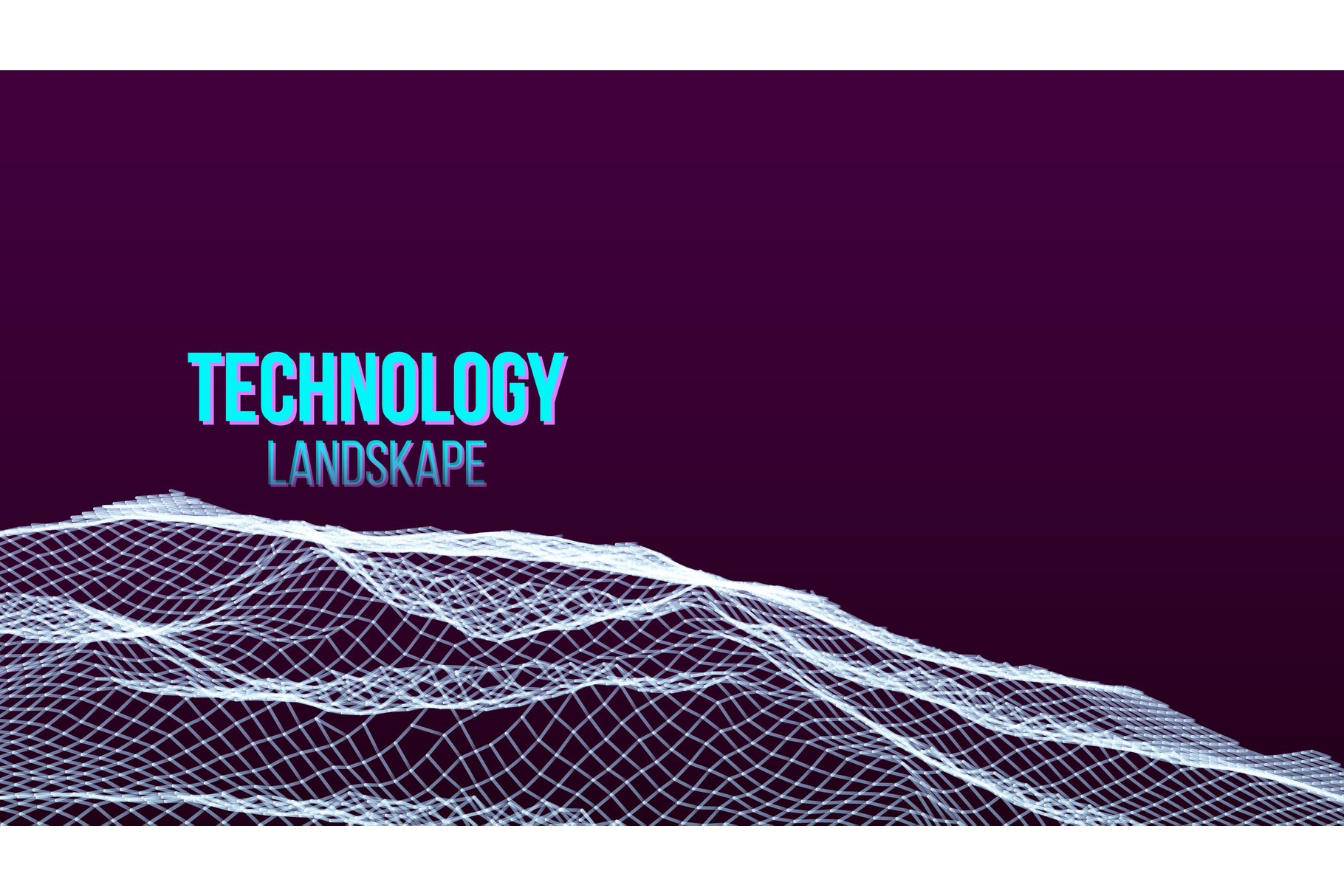 Abstract Digital Landscape Background Vector. Flowing example image 1