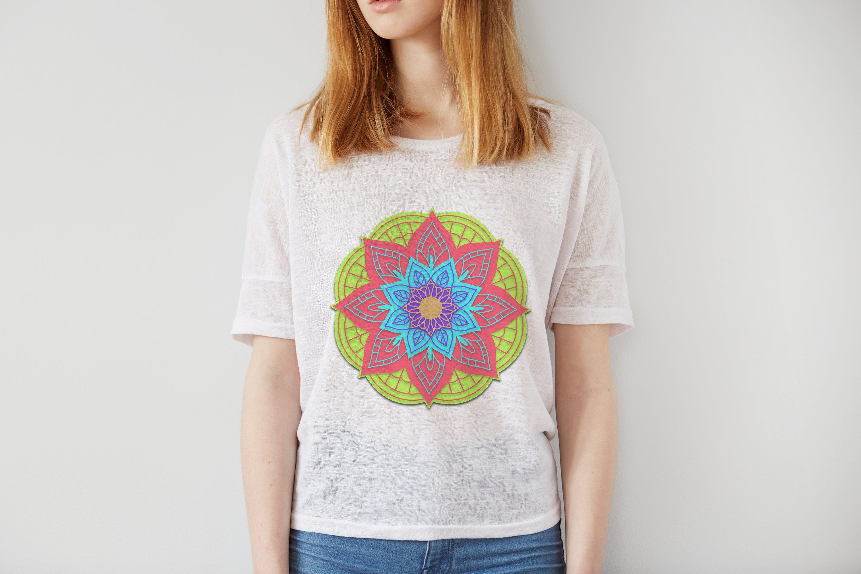 Download 3D Mandala Layered svg Papercut SVG Yoga design t-shirt ...