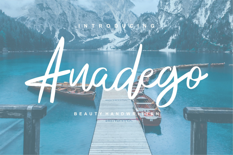 Anadego | Beauty Handwritten Script Font example image 1