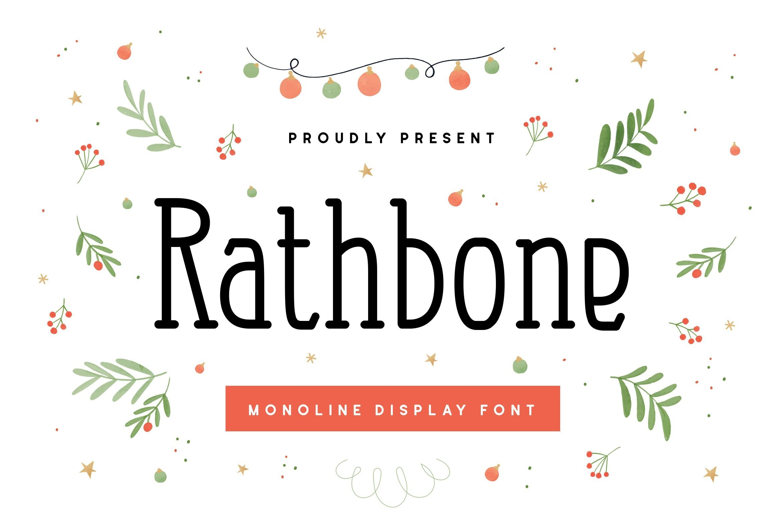 Rathbone Single Line Font example image 1