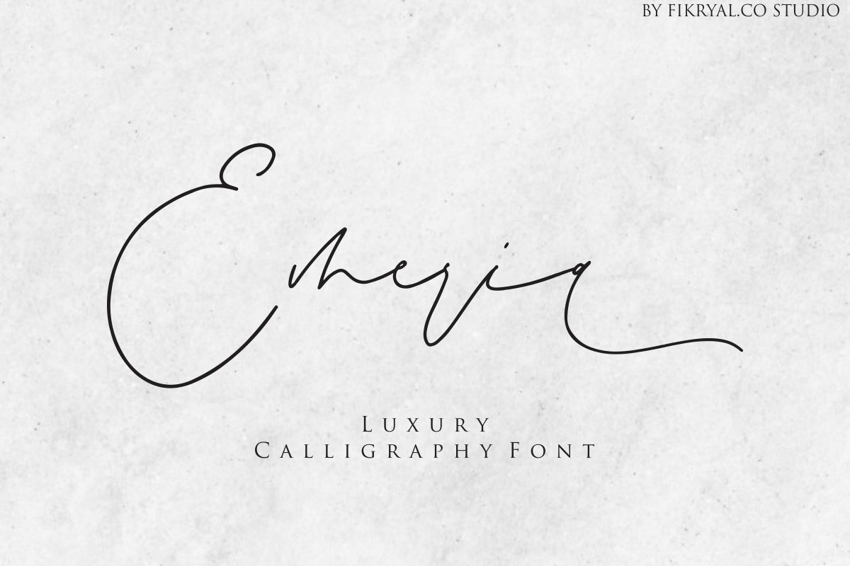 Emeria - Luxury Calligraphy example image 1