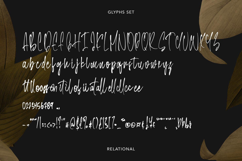 Relational - Handwritten Font example image 4