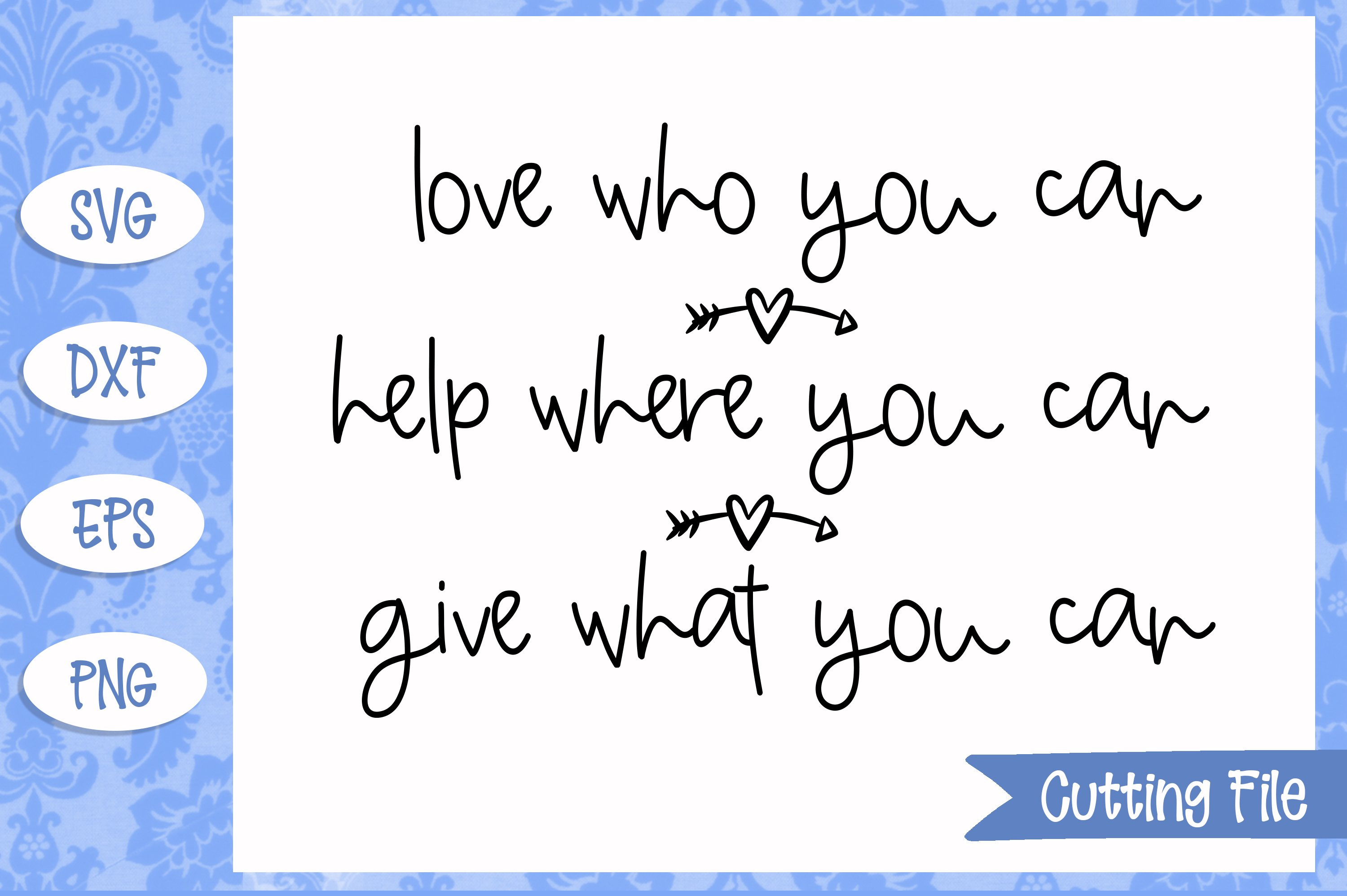 Love who you can SVG File example image 1