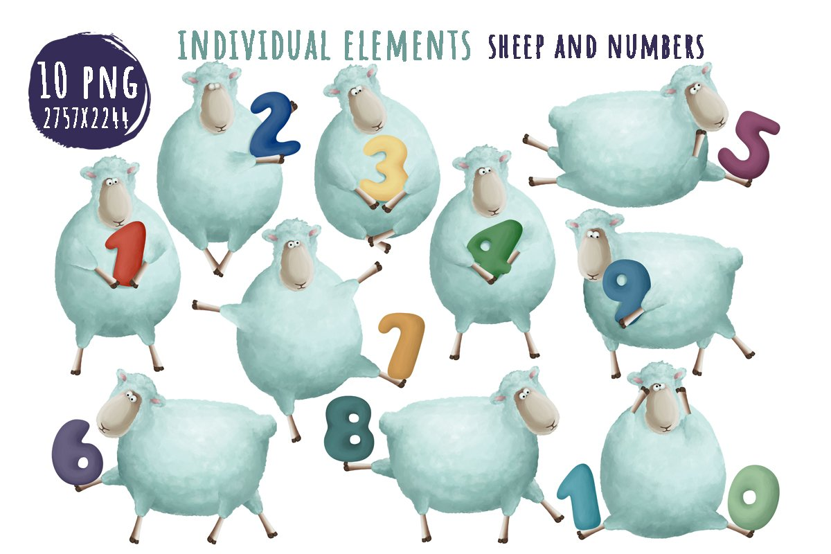 Count learn with funny sheep example image 4