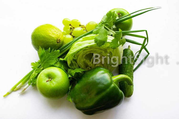 Green vegetables and fruits example image 1