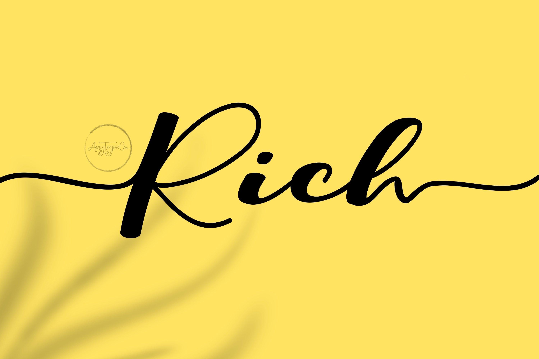 Rich // Script Typeface example image 1