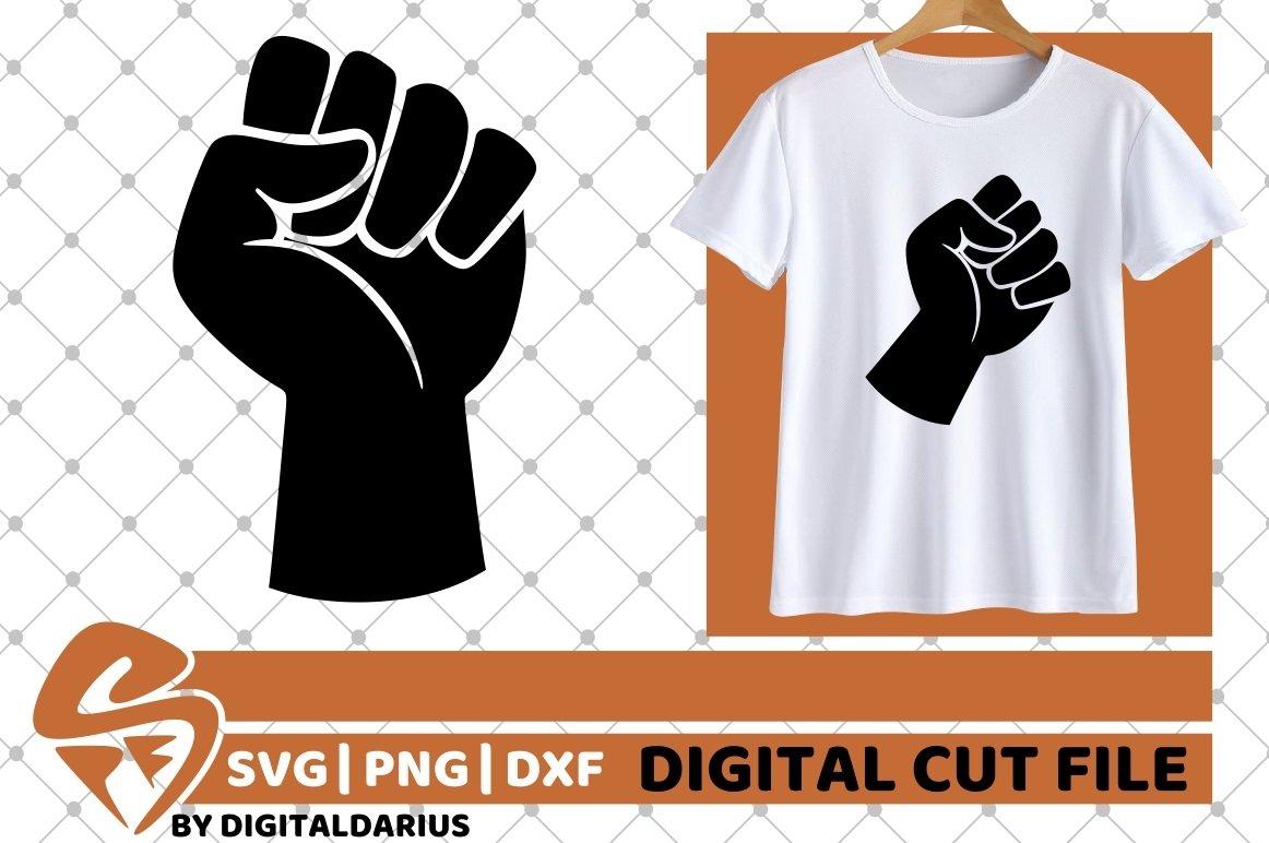 2x Fist Designs Bundle svg, Hand svg, Power svg, Black Man example image 2
