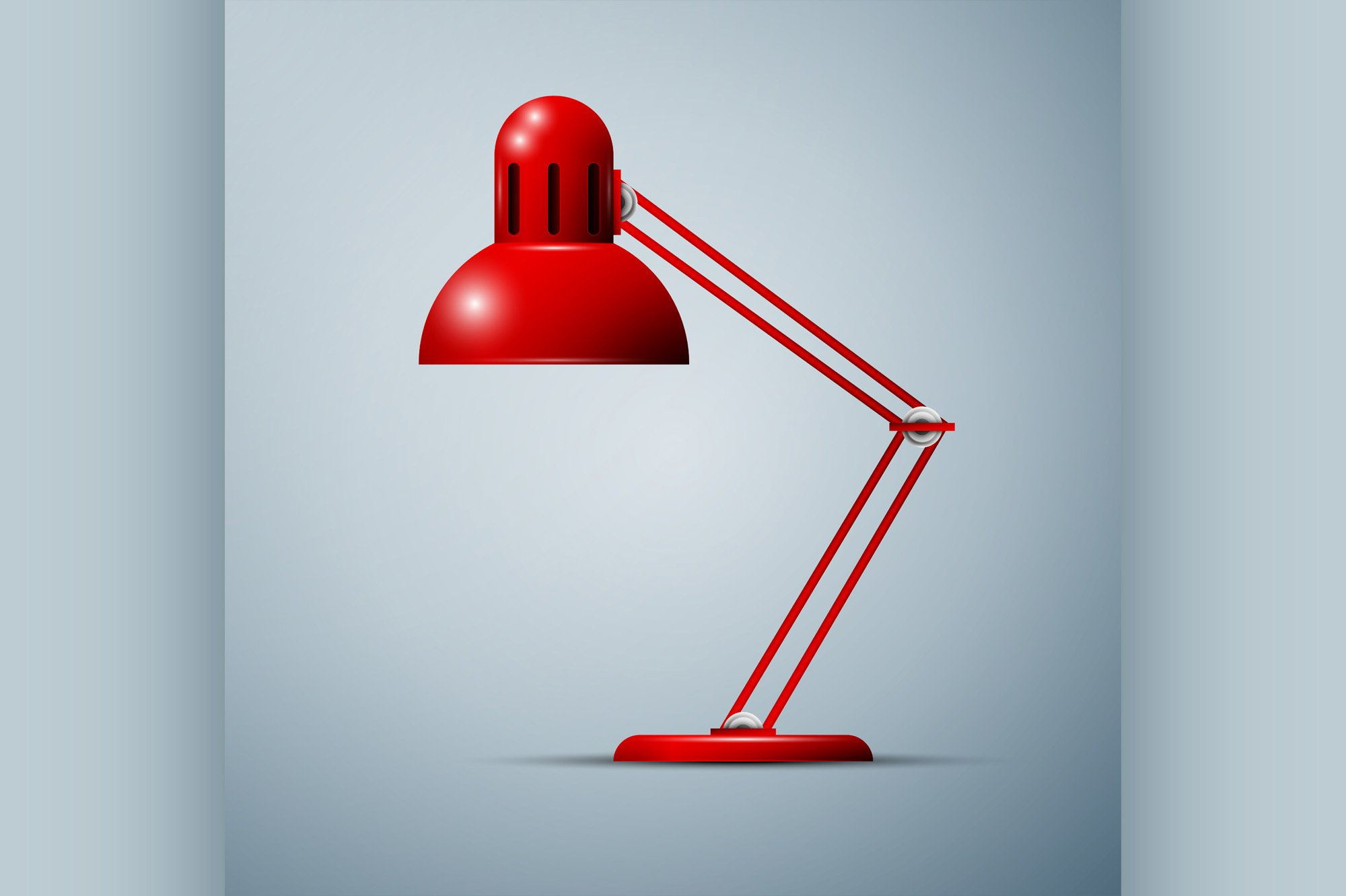 Red desk lamp example image 1