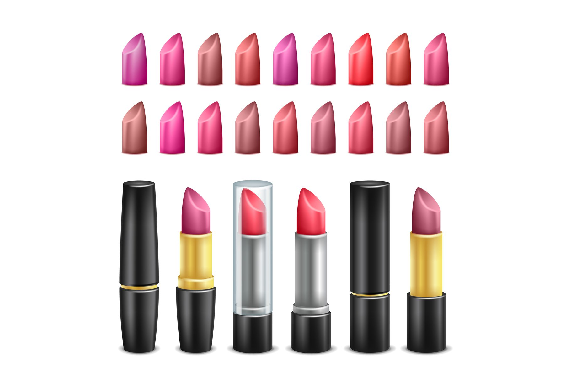 Lipstick Collection Vector. Black example image 1