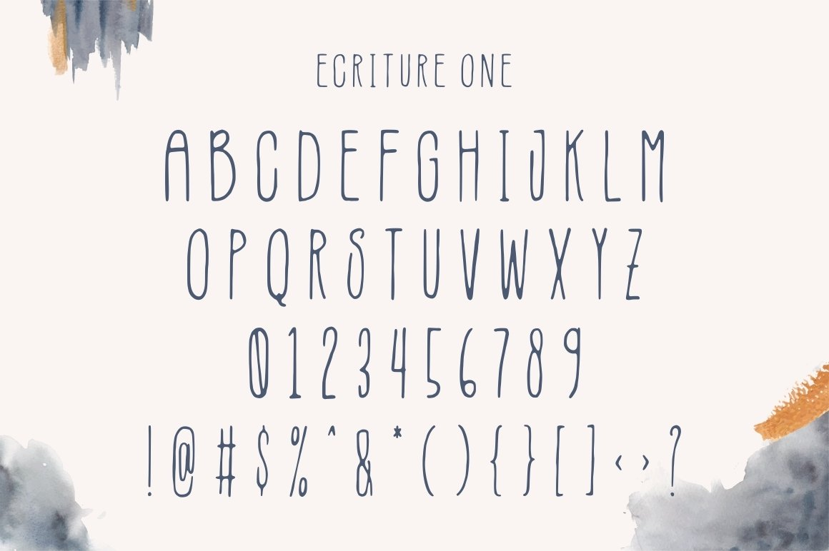 Ecriture || Handdrawn Font example image 6