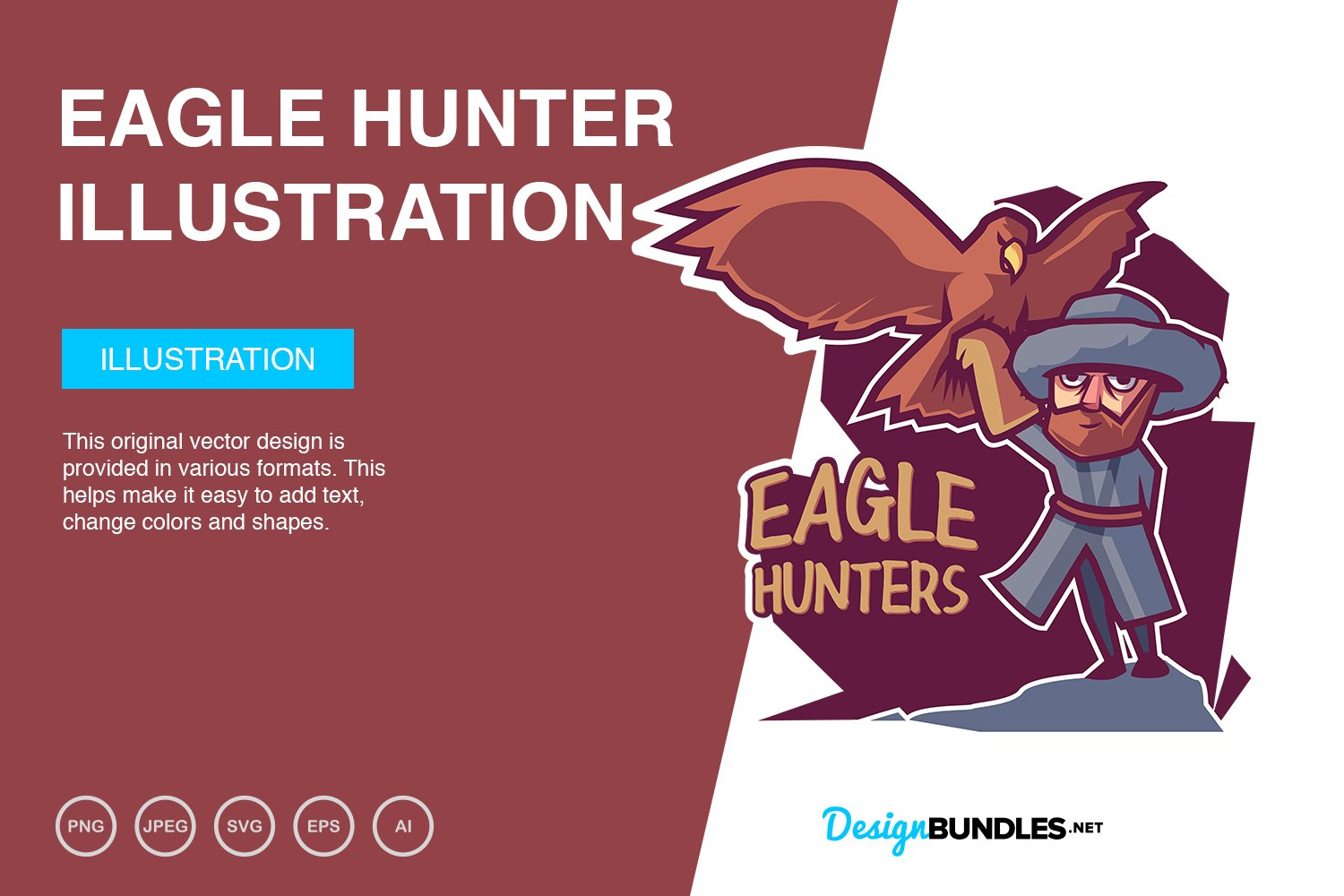 Eagle Hunter Vector Illustration example image 1
