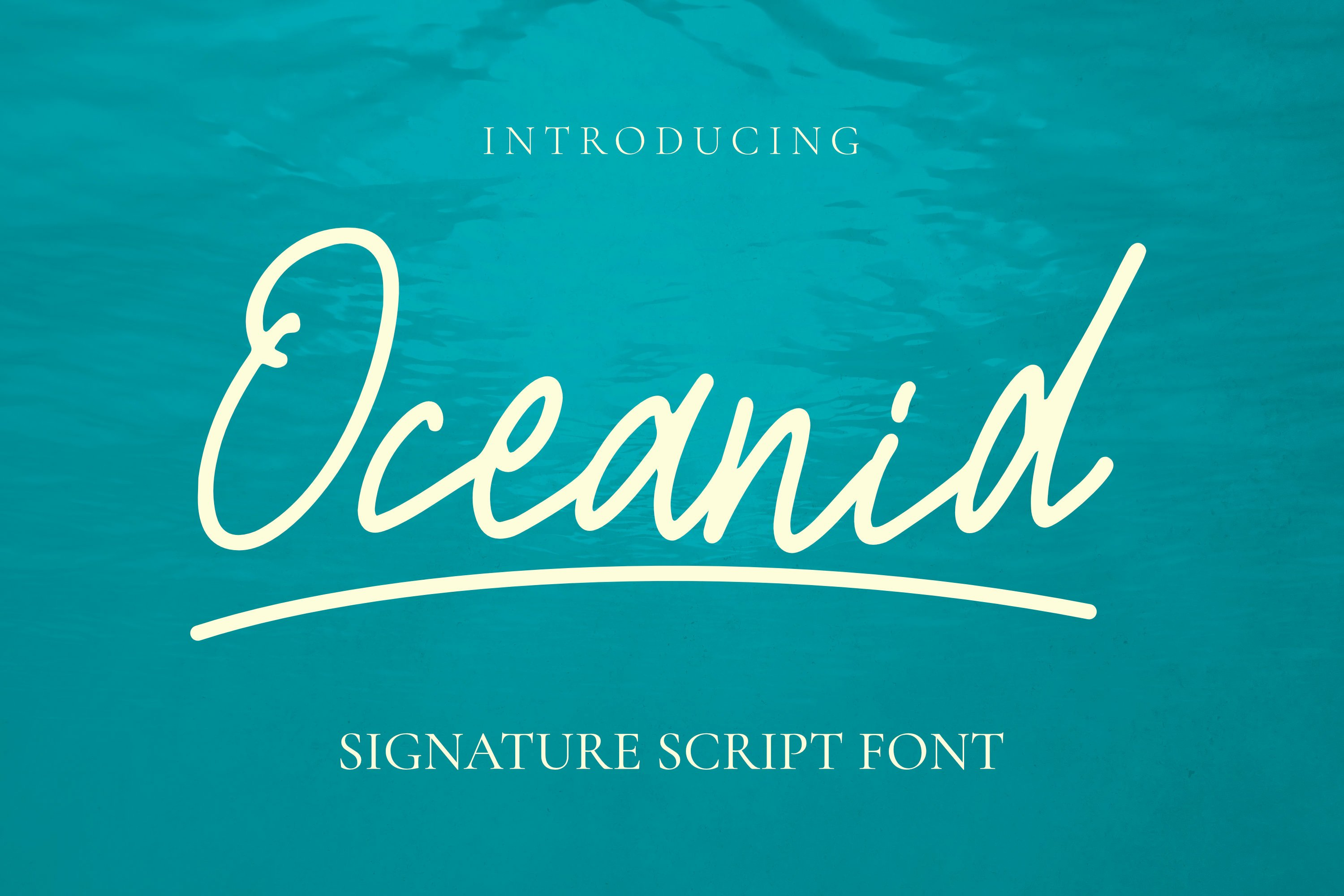 Oceanid Font example image 1