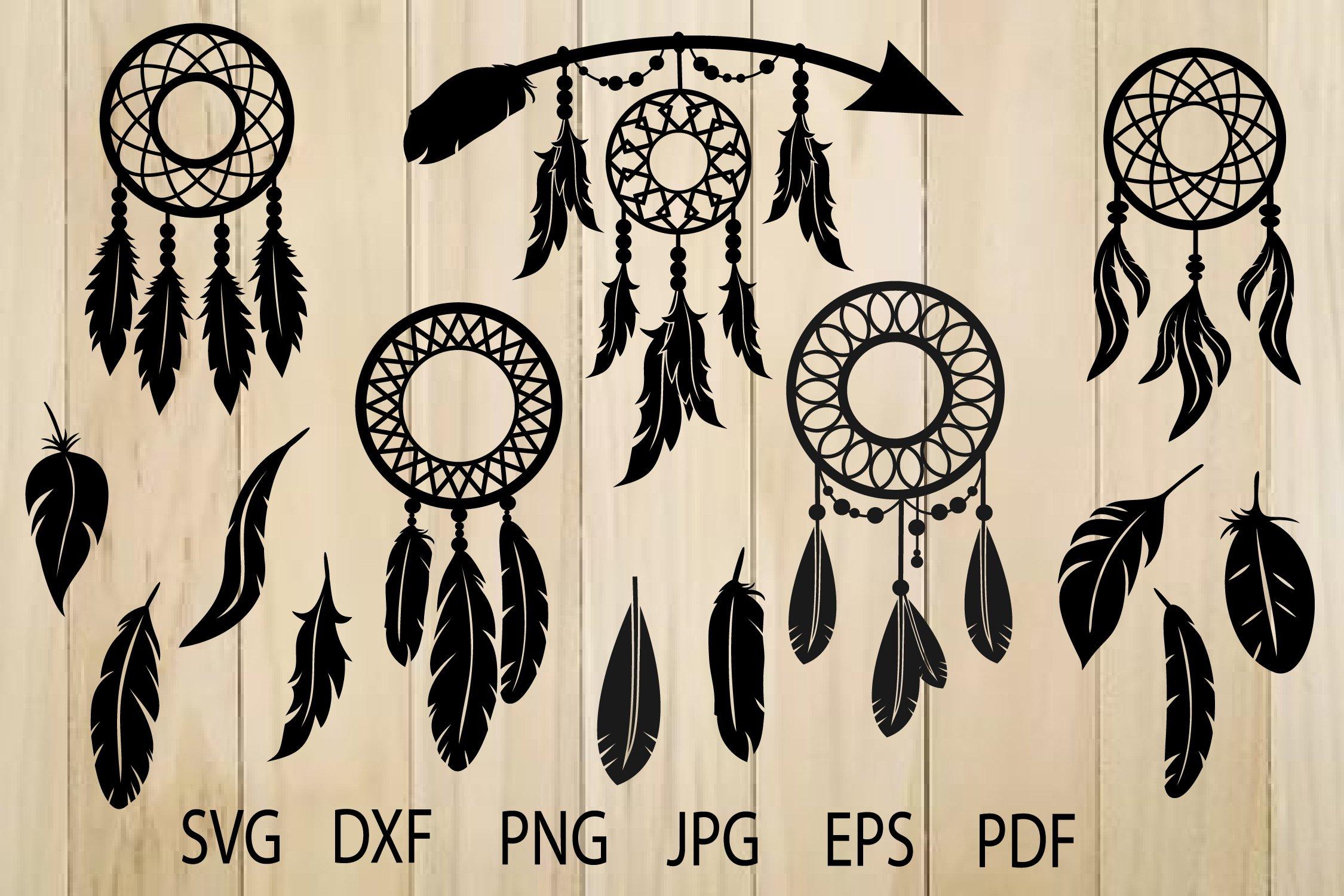 svg file for cricut dreamcatcher Dream catcher svg dxf Silhouette monogram frame svg Cricut feathers wedding svg Cut file design
