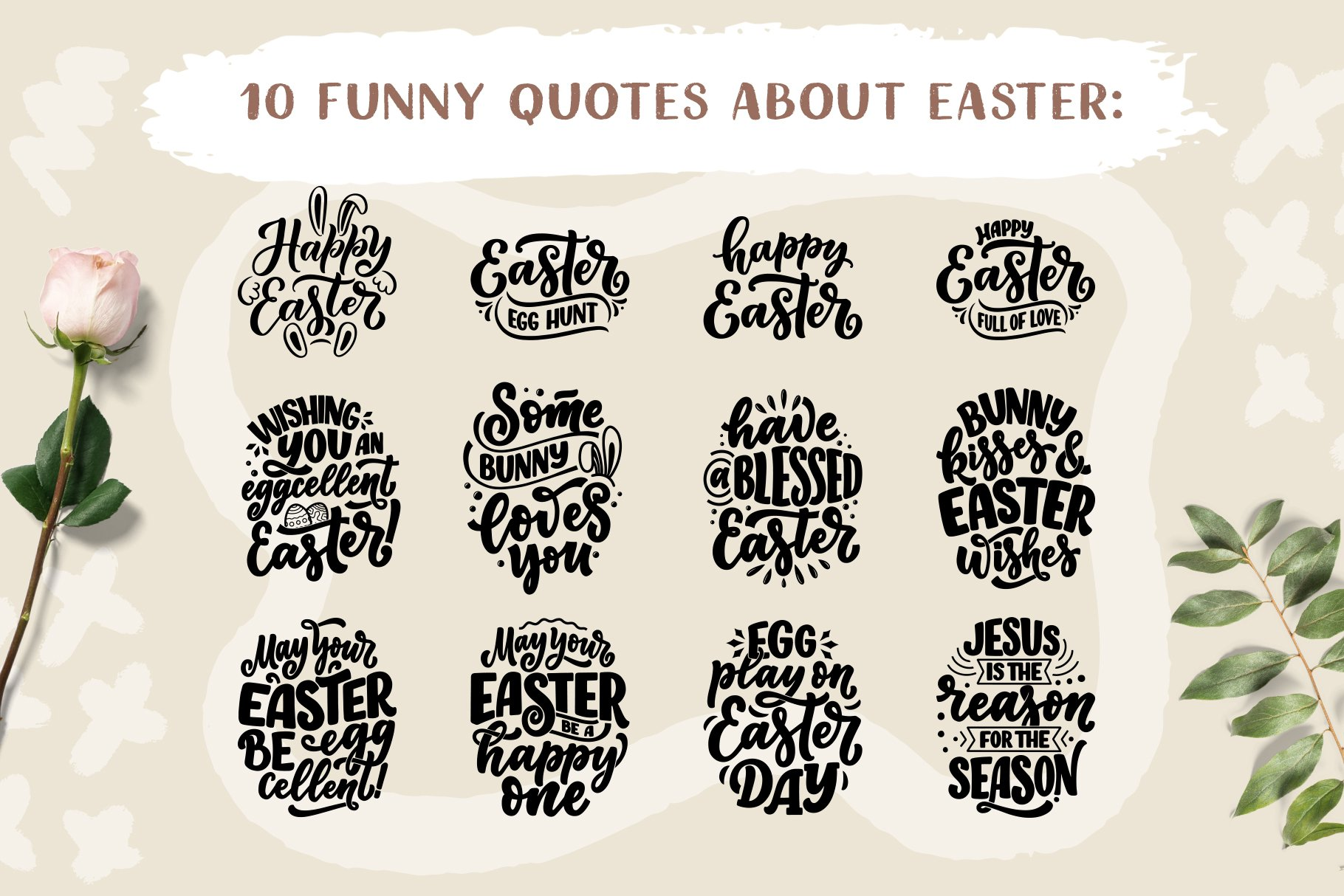 Easter Lettering Set example image 4