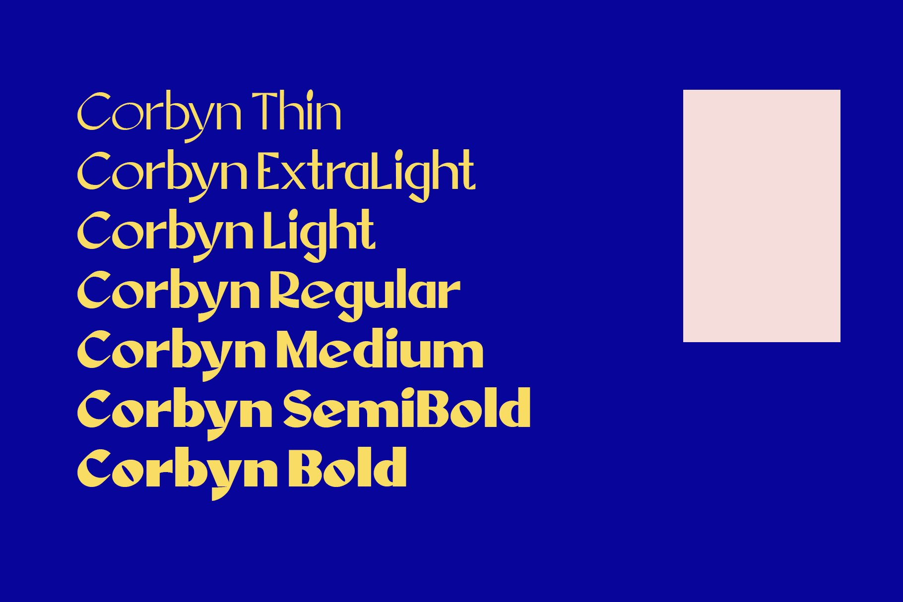 Corbyn Font example image 12