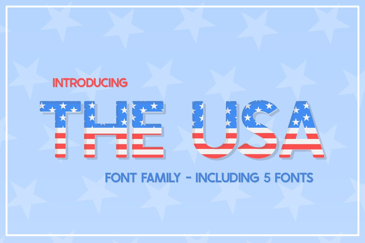 The USA Font Family example image 1