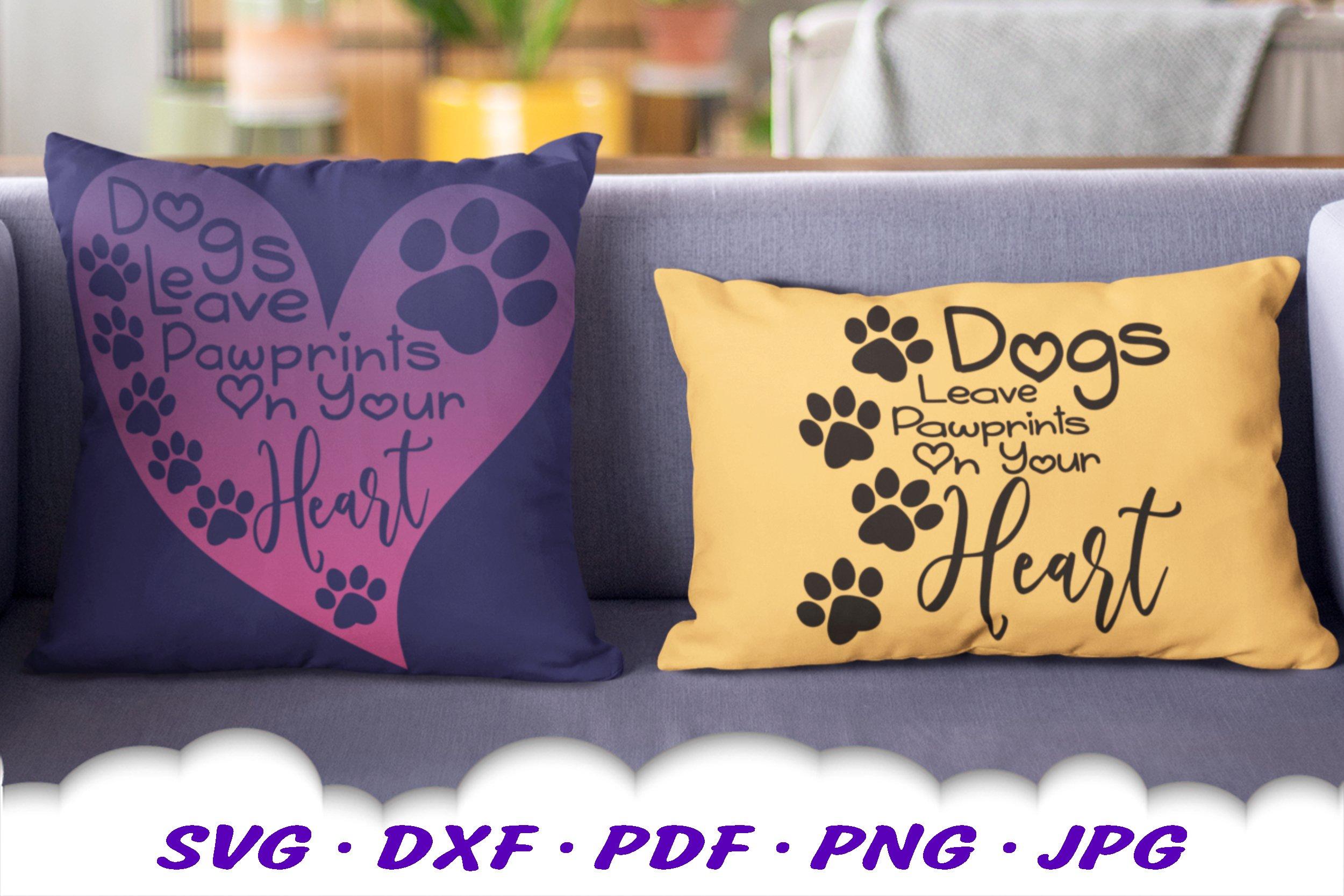 Dog Mom Paw Print Bundle SVG DXF Cut Files example image 5