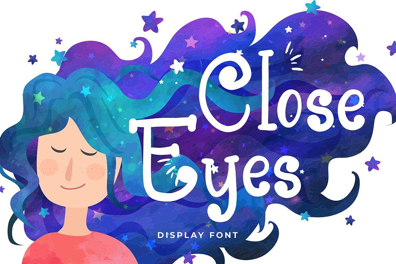 Close Eyes Playful Display Font example image 1