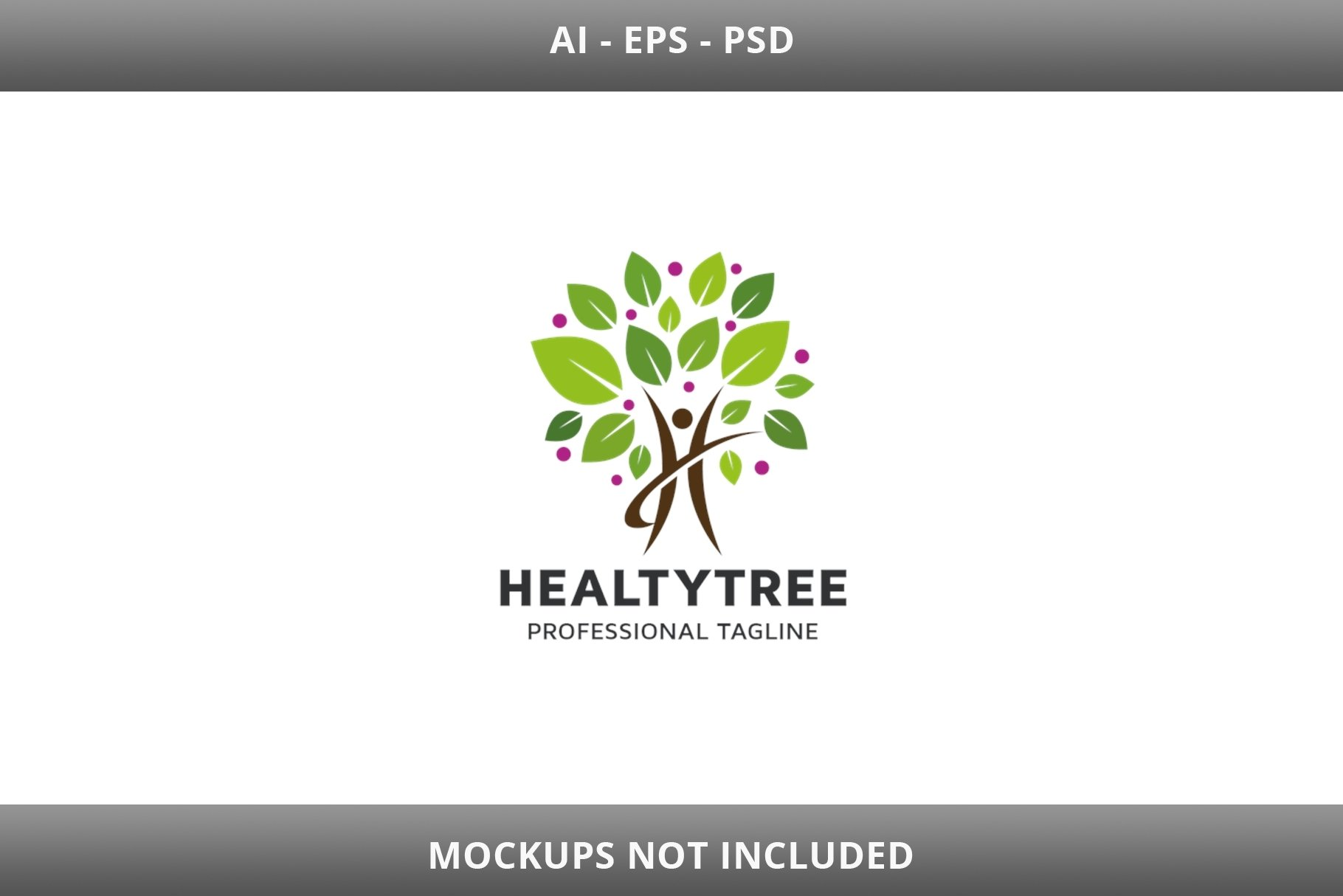 Healty Tree Letter H Logo example image 1