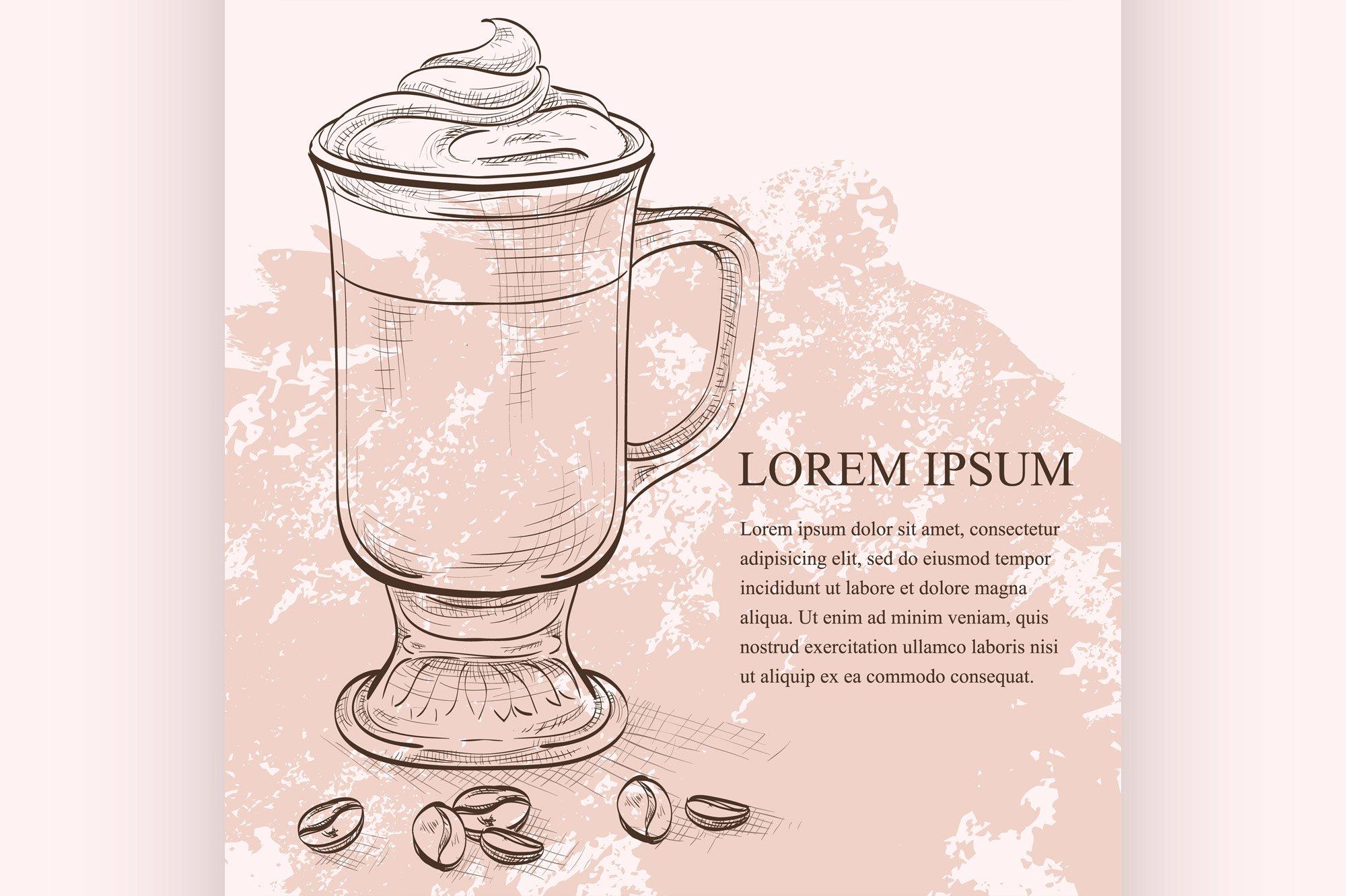 Irish coffee scetch example image 1