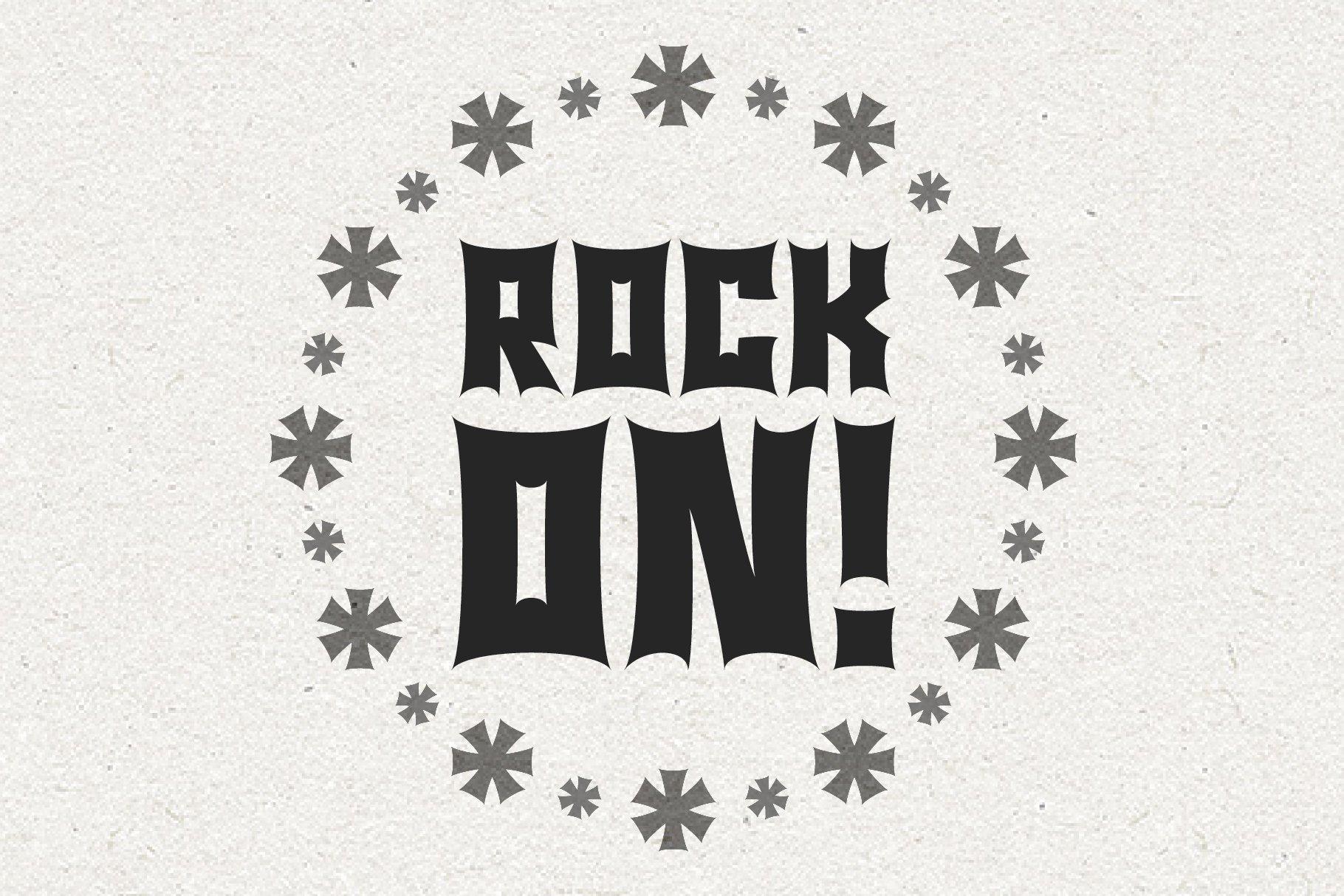 Monster Rock font - Monsta Rocka example image 5