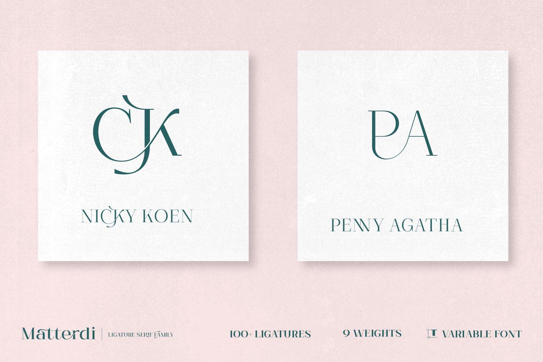 Matterdi | Hi-fashion ligature font example image 10
