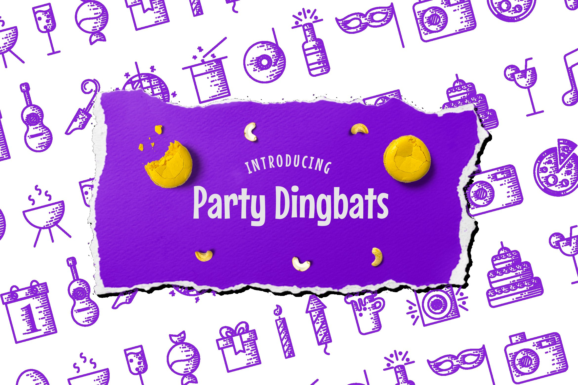 Party Dingbats Font example image 4