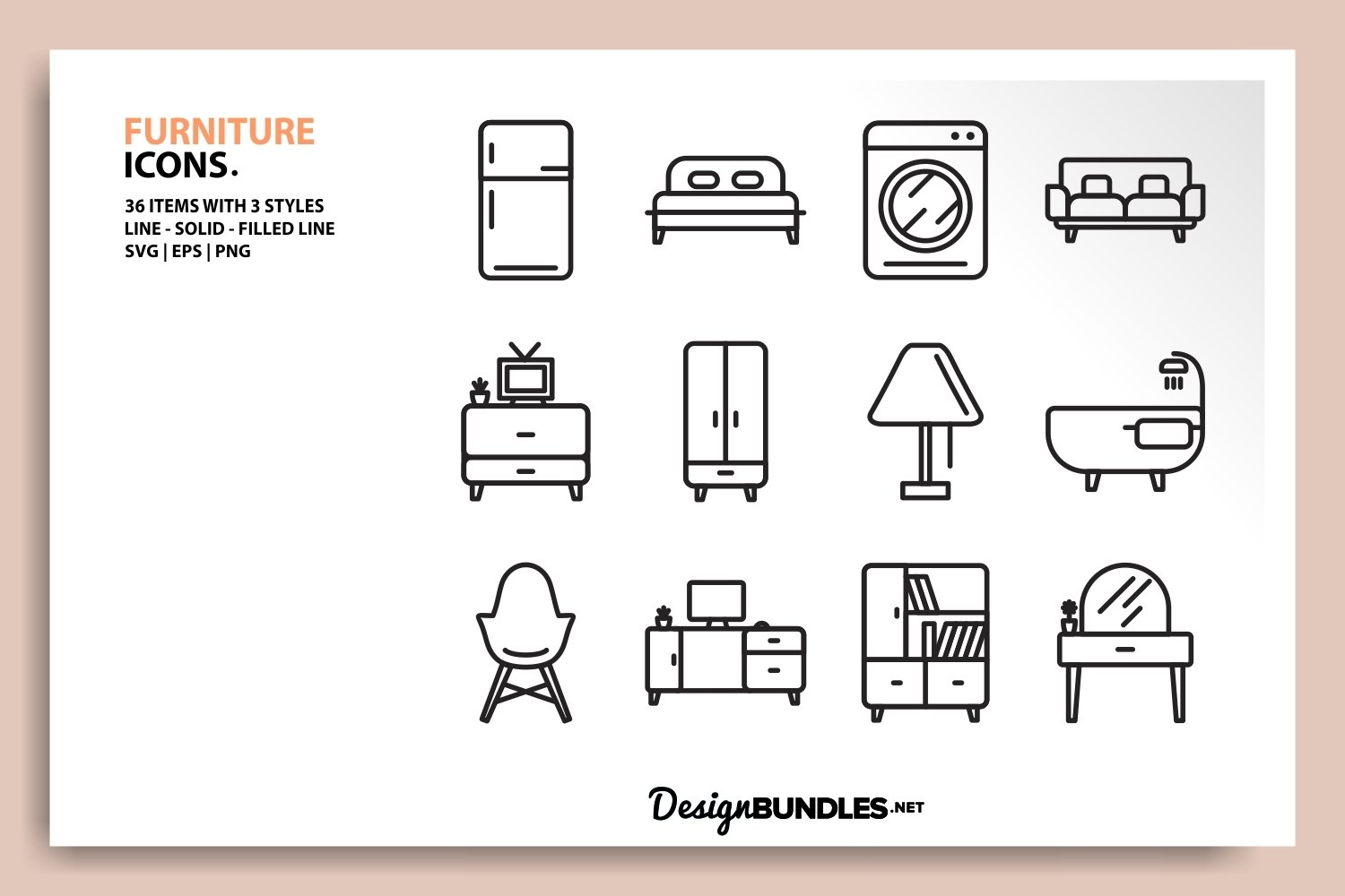 Furniture Icons example image 2