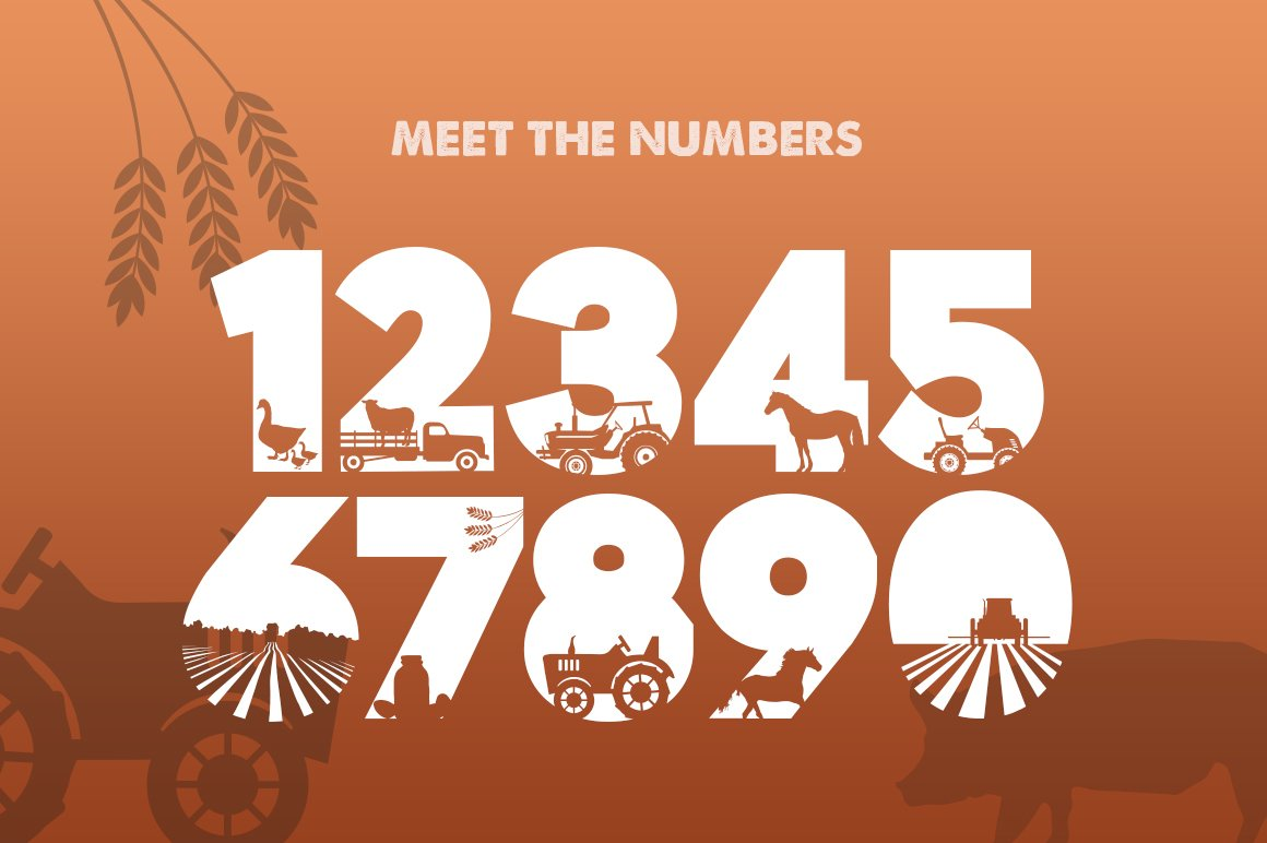 On the Farm Font example image 3